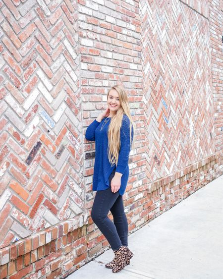 WEEKEND: The shortest 48 hours you'll ever experience! DOUBLE TAP if you're not ready to say goodbye.   Currently gearing up for a week ahead by binge watching Friends! 😉 Happy Sunday, Y'all!   _______________________________________  One of the best sweaters from @Express is $15! This circle hem tunic is not available in blue, but comes in several other colors! I've linked them for you. Get an extra 50% off clearance items now + FREE SHIPPING on $50!  _______________________________  Shop your screenshot of this pic with the LIKEtoKNOW.it app OR go to the link in my bio for outfit details!  @liketoknow.it #liketkit #LTKunder50 #LTKunder100 #LTKsalealert #LTKshoecrush #LTKstyletip http://liketk.it/2zA7N