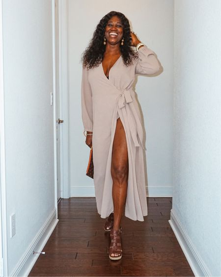 """This must have wrap dress is on sale from Shein! I also added a few more similar styles.    Download the LIKEtoKNOW.it app to shop this pic via screenshot or simply shop using the link in my bio and click """"SHOP MY LOOKS"""".@liketoknow.it  #LTKsalealert #LTKstyletip #LTKunder50"""