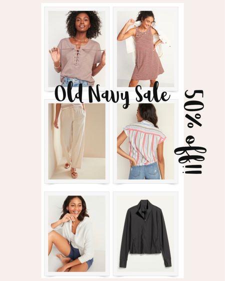 50% off Old Navy Sale & Spring Outfit Ideas   #LTKunder50 #LTKfamily #LTKsalealert