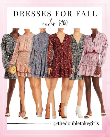 New under $100 dresses for fall! We always love a cute dress with tall boots!   #LTKstyletip #LTKunder100 #LTKshoecrush