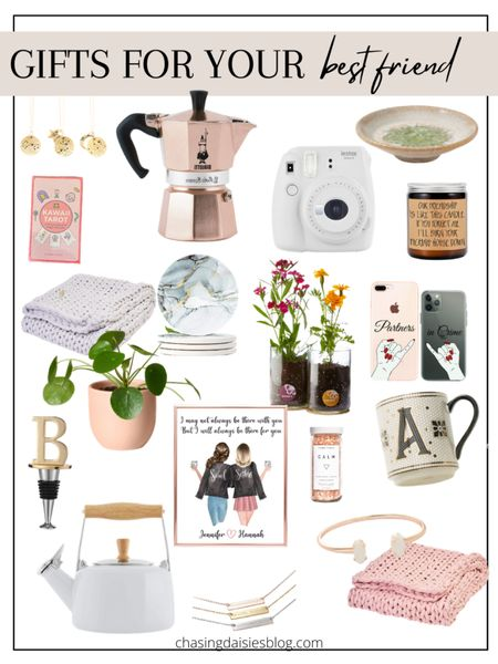 Shop these gifts for your best friend. These are the best gifts for BFF or gifts for her. If you're looking for gifts for your best friend then you'll love these BFF gifts! #giftsforbff #giftsforbestfriend #giftguide #giftsforher #liketkit @liketoknow.it #LTKunder50 #LTKSeasonal #LTKunder100 http://liketk.it/38rxS