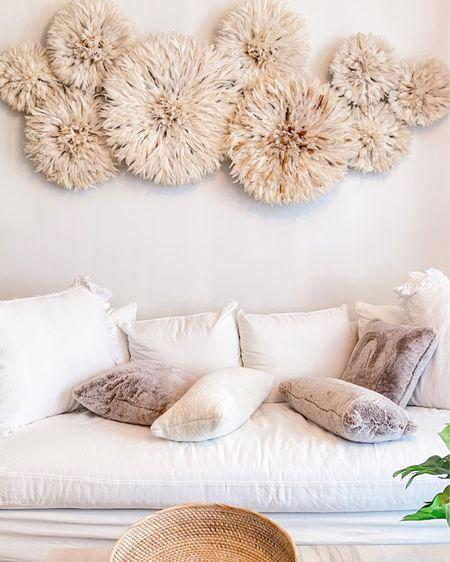 Living room, boho living room, neutral decor, cozy home, wall art, juju hats, white decor http://liketk.it/3cNgx #liketkit @liketoknow.it
