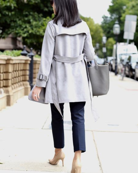 I'm partnering with @anntaylor to share this neutral fall look on www.whatjesswore.com. I love this versatile faux suede grey trench! Everything is now 40% off (sale ends 9/18 at 3AM ET). 🛍 Get my outfit details via the Insta Shop link in my profile or the @liketoknow.it app at http://liketk.it/2xkcs . #liketkit #LTKsalealert #LTKitbag #LTKstyletip  #LTKunder100   #LTKunder50