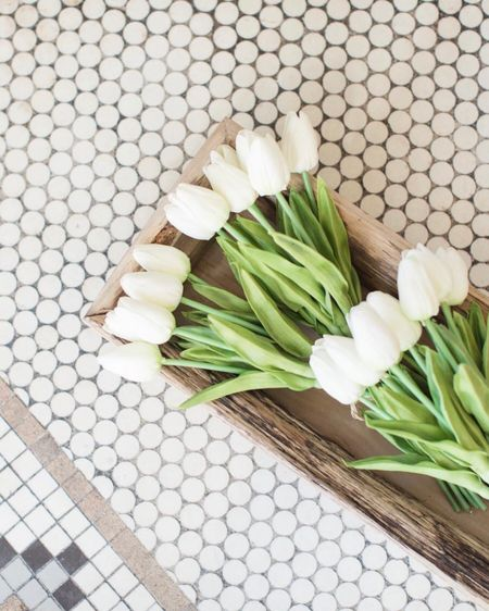 . I just love these real touch tulips for my spring decor!  I'm not typically a fan of faux flowers but these are so realistic, you truly can hardly tell they're not the real thing.     http://liketk.it/35Zq4 #LTKSeasonal #LTKhome #StayHomeWithLTK #liketkit @liketoknow.it    You can instantly shop my looks by following me on the LIKEtoKNOW.it shopping app