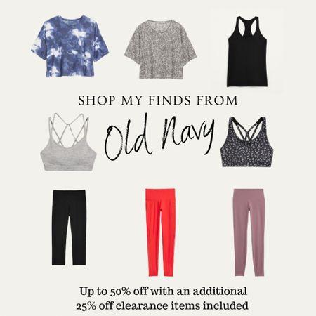 Old Navy, Sale Picks, Workout Outfit, 50% off,  Athleisure  #LTKunder50 #LTKfit #LTKsalealert
