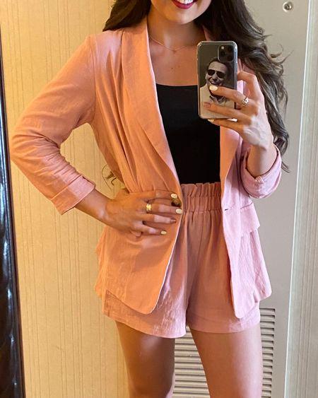 Matching suits for summer. Blazer and shorts combos under $40 http://liketk.it/3hAOj #liketkit @liketoknow.it #LTKunder50 #LTKworkwear #LTKstyletip