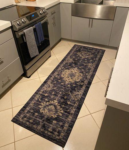 Finally found a washable rug for our kitchen. The is vintage runner from Target in blue is perfect. We love it. #bluerug #bluerunnerrug #targetrug  #LTKunder50 #LTKhome #LTKstyletip