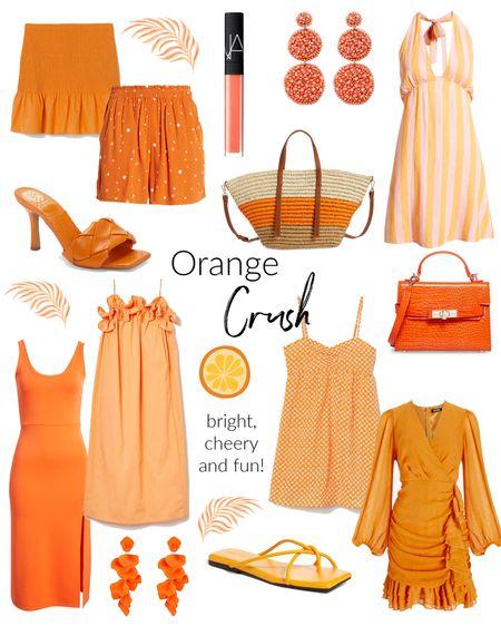 orange crush // wedding guest dresses// vacay dresses // orange accessories @liketoknow.it #liketkit http://liketk.it/3h34M #LTKunder50 #LTKunder100