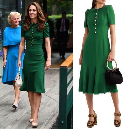 Kate wearing Dolce & Gabbana dress #midi #bow #holiday #christmas  #LTKstyletip