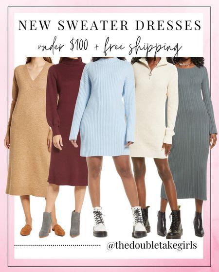 So many cute new sweater dresses under $100 + free shipping!   #LTKshoecrush #LTKunder100 #LTKstyletip