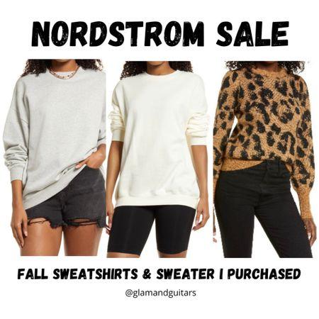 Long basic sweatshirts under $23! Adorable leopard sweater comes in two color options. Nordstrom sale.   #LTKsalealert #LTKstyletip #LTKunder50
