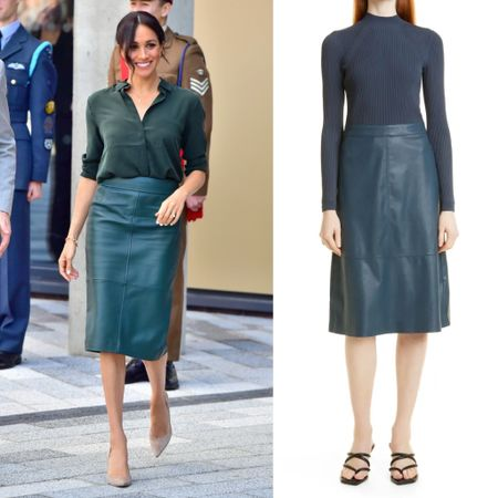 Meghan dress Inspo #leather #midi   #LTKstyletip