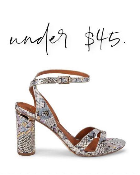 Cutest python snake skin sandals under $45. http://liketk.it/3h3r4 #liketkit @liketoknow.it   #LTKshoecrush #LTKunder50 #LTKstyletip