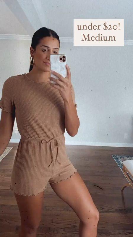 Loungewear romper from Amazon fashion, under $50, medium   #LTKunder50