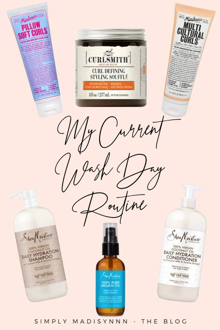 Sharing my new #Washday routine for #Curlyhair over on my blog😍🔥 Head over to SimplyMadisynn.com to see what I use and the steps I use to get my curls poppin👏🏼 I share some before and afters too so check it out🙈💕 • •   #LTKunder50 #LTKbeauty #LTKunder100