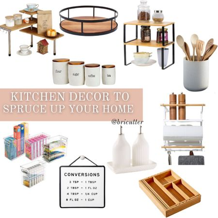Some affordable kitchen decor to help spruce up your home ahead of the holidays!   #LTKhome #LTKunder50 #LTKSeasonal