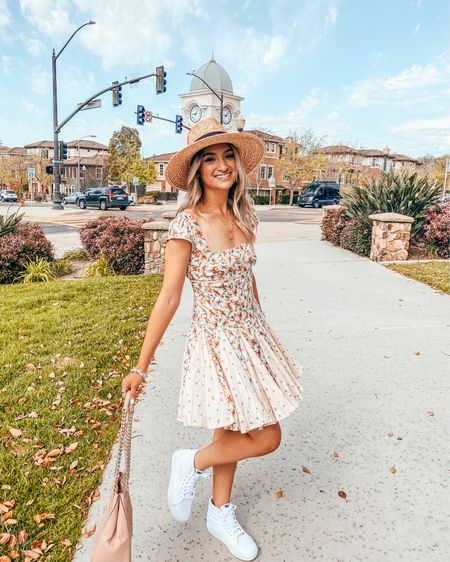 """What's everyone up to this weekend? 💕🌸 Today we focused on setting up our garden which we put on hold because of Michael's surgery. And tomorrow is Michael's dads birthday which we will be celebrating with him tomorrow! 🥳🎂 . . This dress is fully restocked along with these shoes so I thought I'd share before they sell out again! (Tap my link in bio and tap """"shop my insta"""")   http://liketk.it/3fSgt #liketkit @liketoknow.it   Happy Saturday!   #outfitpost#victoriaemerson#fashionpost#fashiondaily#mystyle#fashionblogger#styleinspo#styleblogger#outfitideas#casualstyle#ootd #mystyle#todaysoutfit#aboutalook #whatiwore#currentlywearing#summerstyle #fashiondaily#fashionista#stylediaries #springfashion#springstyle#summerfashion #freepeople #vans #nordstrom"""
