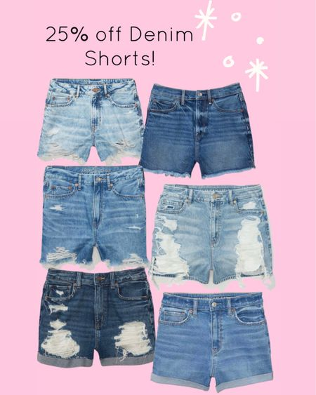 Denim shorts are 25% off http://liketk.it/3hW1A #liketkit @liketoknow.it #LTKunder50 #LTKsalealert