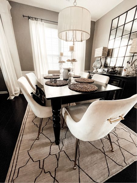 Dining room decor. Pottery Barn Finds. Wayfair Finds. Neutral decor. Dining table. Dining room chairs. #ltkpets #wayfair #potterybarn  #LTKhome #LTKstyletip