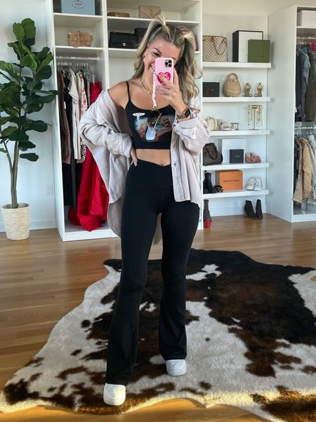 Casual outfit ideas for outfit ideas free people sweater crossover leggings white sneakers  #LTKSeasonal #LTKunder50 #LTKstyletip