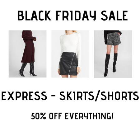 Favorite Express skirts and shorts 50% off! http://liketk.it/32u3T #liketkit @liketoknow.it #LTKsalealert #LTKunder50 #LTKunder100