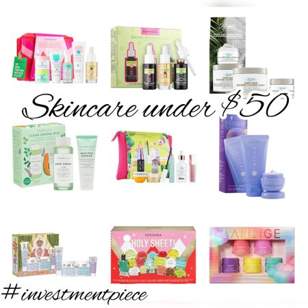 Give the gift of skincare (from serums to sunscreen to face masks!) @sephora makes it easy with these skincare gift sets- and they're all under $50! #investmentpiece   #LTKbeauty #LTKGiftGuide #LTKunder50