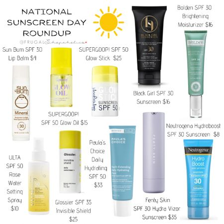 Today is National Sunscreen Day! Don't forget to apply your sunscreen and make sure you are applying enough. 1/2 teaspoon (2 finger's length) for the face and 1 once for the full body.   Follow me on the @liketoknow.it shopping app to get the product details or on our 'Shop Instagram' page in the bio. {CH 👸🏾}   Direct Link: http://liketk.it/3giam   • • • • • • #frugalshopaholic #budgetbeauty #affordablebeauty #beautyonabudget #drugstorebeauty #skincare #affordableskincare #makeup #makeupforwoc #darkskinnedmakeupdaily #blackgirlswhoblog #browngirlbloggers #dmvblogger #lablogger #liketkit