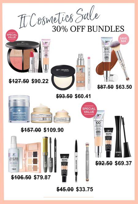 It Cosmetics sale on bundles! All are 30% off this weekend ❤️❤️  #LTKbeauty #LTKGiftGuide #LTKsalealert