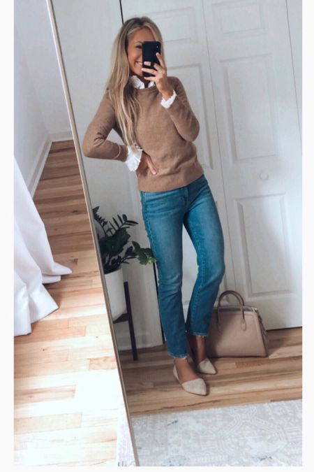 J.Crew outfit J.Crew shirt everyday fall outfit preppy outfit casual look   #LTKworkwear #LTKstyletip #LTKunder100