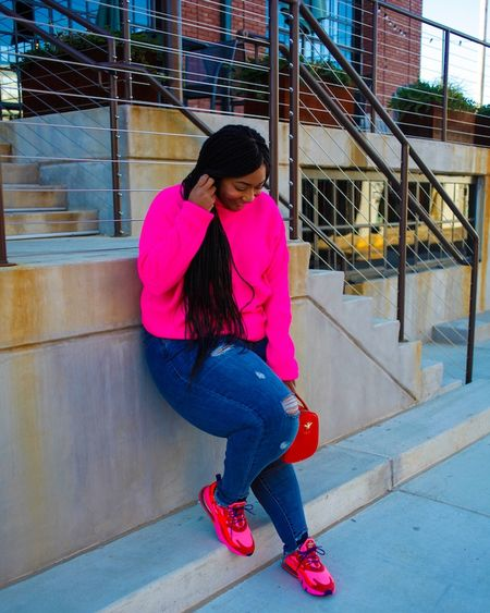 """#ThrowBackThursday because I wanted some bright pink on your timeline. Also, these shoes are on sale! Grab the link from my Instastories!!! @liketoknow.it #liketkit http://liketk.it/2JZ5P  * * Blog Post """"Mommy to the Max: Kid Free"""" at www.curvaceouslybee.com.  👉🏽 http://bit.ly/2WOVhEr 👈🏽 * * #justdoit #airmax #millennialmom #memphisblogger #boymomlife #mysonshine #mombloggers #melaninpoppin #blackmomsblog #melaninqueen #pearshape #blackandbeautiful #plussizeblogger #plussizefashion #celebratemysize #goldenconfidence #memphisblogger #CurvaceouslyBee #memphisfashionblogger #theiconicgirls #plusmodelmag #tennesseeblogger"""