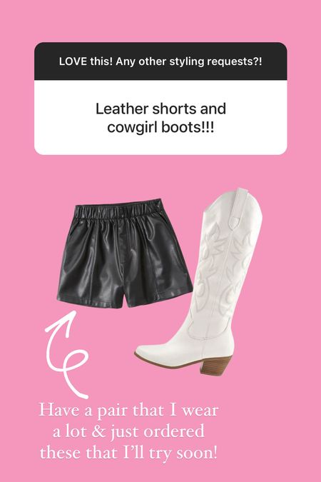Have a pair of leather shorts that I love but just ordered these since they're selling like hot cakes that I'll style soon!  #LTKsalealert #LTKstyletip #LTKunder50