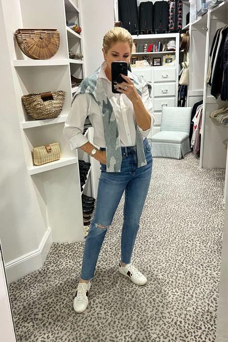 Another great look with a white blouse! Size 8 blouse    #LTKunder100 #LTKstyletip