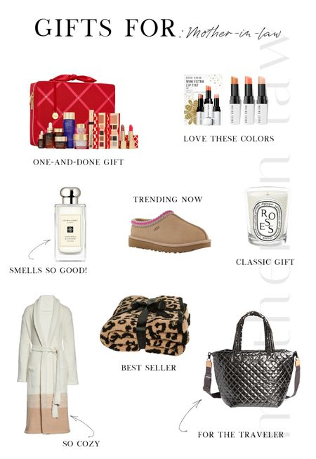 Holiday Gift Guide ❄️ For your Mother in Law   Beauty, Nordstrom, gifts, Bobbi Brown, Diptyque, candle, blanket, Barefoot Dreams, MZ Wallace, tote, robe, perfume, Jo Malone, UGG, slippers    #LTKunder100 #LTKbeauty #LTKGiftGuide
