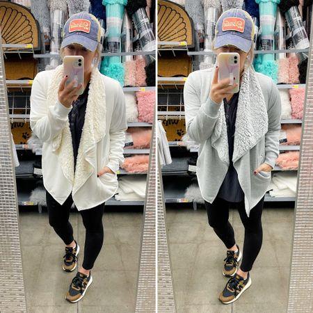 Walmart sherpa cardigan only $18.96  #LTKSeasonal #LTKtravel #LTKstyletip