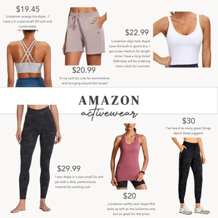 Amazon activewear and athleisure favorites! #amazon #activewear #athleisure   #LTKfit #LTKsalealert #LTKunder50