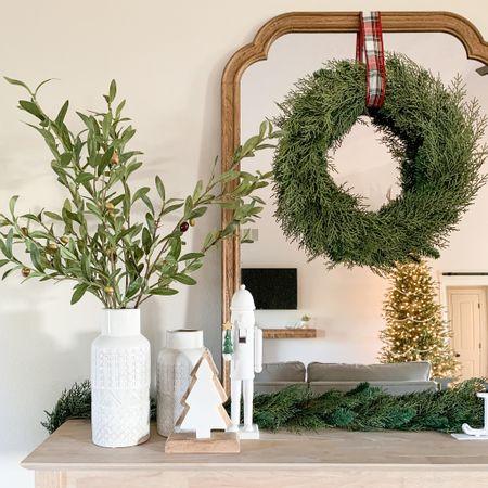 Entryway Christmas decor inspo.   #LTKhome #LTKfamily