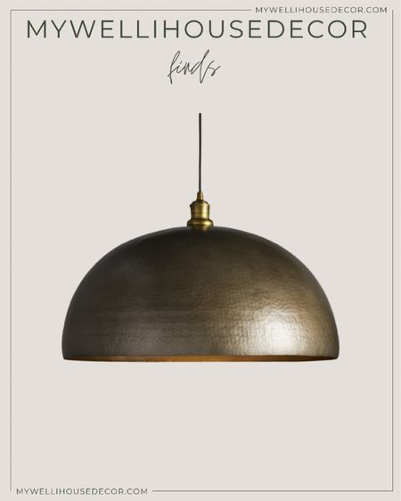Brass Pendant lights, dome light fixture   Pendant light, studio mcgee, target home decor, brass light, west elm, restoration hardware, crate and barrel, pottery barn, cb2, Arhaus   #LTKSale #LTKhome #LTKsalealert