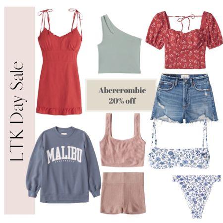 Summer essentials on sale for LTK Day at Abercrombie! Their jean shorts are my absolute favorites! Bikini, high rise bikini, shorts, beach vacation outfits http://liketk.it/3habC #liketkit #LTKDay #LTKsalealert @liketoknow.it