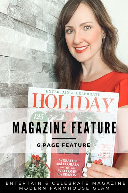 I'm so honored to have a SIX page  MAGAZINE FEATURE in Entertain & Celebrate Holiday 2021 Magazine! 🌲☃️Thank you @entertainandcelebrate for this honor! Thank you to my amazing followers for your support!  It just hit the newsstands and my feature starts on page 33! Watch my Instagram  video reel to get a sneak peek of what's inside! Link in bio to get your copy online on www.modernfarmhouseglam.com under Shop My Amazon. It's also available in stores. Tag me  @modernfarmhouseglam when you get your copy!❤️  #magazinefeature #entertainandcelebrate #entertainandcelebratemagazine #Christmas2021 #Christmas #ChristmasDecor #christmashome #christmashomedecor #holidays #holidaydecor #holidaydecorating #christmasdecorating #modernfarmhousechristmas #farmhousechristmas #christmasinspo #tistheseason #cozyhome #homedecor #mybhghome #fixerupper #modernfarmhouse #alltheneutralfeels #smmakelifebeautiful #modernfarmhouseglam #christmastree #christmastrees #flockedtree #cozyChristmas  #LTKHoliday #LTKhome #LTKSeasonal