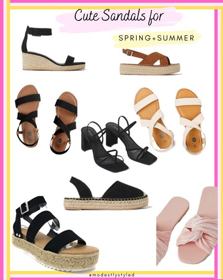 Summers coming and sandals are at the ready, which one will you choose to be worn? #modest #hijab #hijabfashion #sandals #summer #spring #affordable #LTKsalealert #LTKSpringSale #LTKstyletip #LTKunder50 #LTKfit #LTKtravel #LTKshoecrush http://liketk.it/3fEFD @liketoknow.it #liketkit