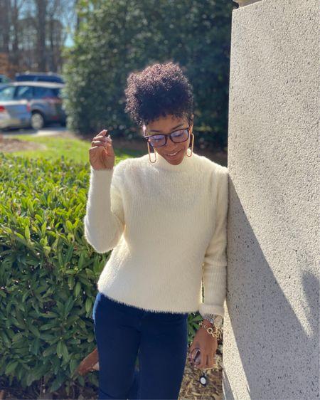 My fuzzy sweater is on sale and it feels so good!! You like it, I love it! 🤩 @liketoknow.it   http://liketk.it/2IV2g   #liketkit #LTKunder50 #LTKworkwear #LTKstyletip