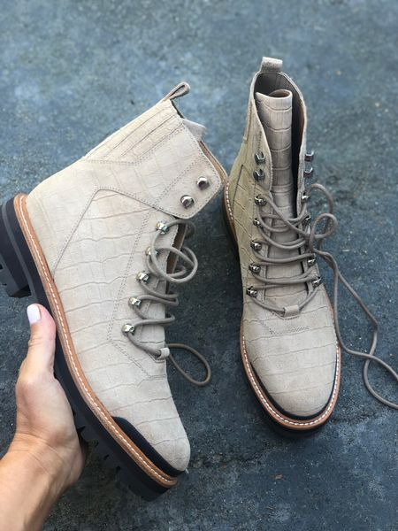 60% off is the right price! Nude combat boots / Nordstrom neutral combat boots. Two colors and come tts   #LTKsalealert #LTKshoecrush