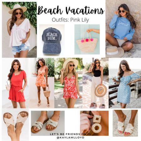 Beach vacation outfits // travel // summer outfits // vacation // @liketoknow.it http://liketk.it/3fjx0 #liketkit #LTKunder100 #LTKtravel #LTKstyletip
