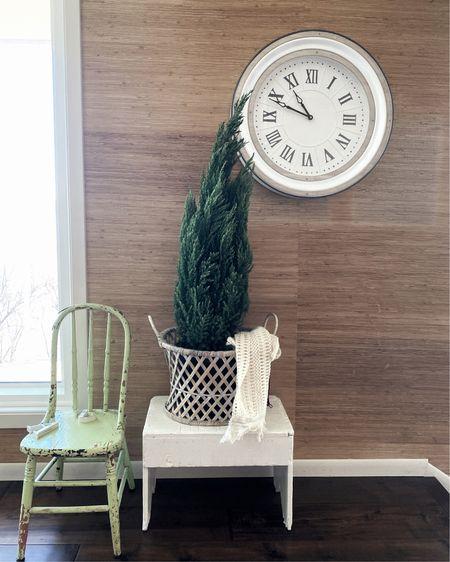 Simple farmhouse clock in the dining room. #farmhousestyle #bohofarmstyle http://liketk.it/349au #liketkit @liketoknow.it #LTKhome