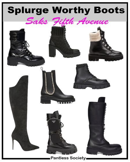 Splurge worthy boots. Black boots. Fall boots. Winter boots. Saks Fifth Avenue. Gift guide. Great gift.   #LTKstyletip #LTKshoecrush #LTKGiftGuide