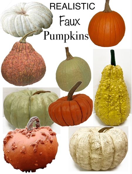 The most realistic faux pumpkins & gourds on the market.  Fall decor - fall porch  Amazon finds    #LTKunder50 #LTKhome #LTKSeasonal