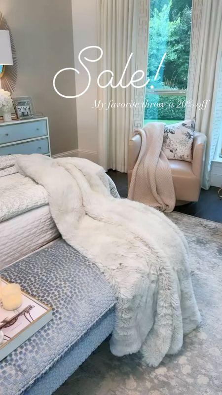 My favorite fall/winter faux fur throw is 20% off!  Fall decor, home decor, throw blanket, seasonal decor, cozy find   #LTKsalealert #LTKhome #LTKSeasonal