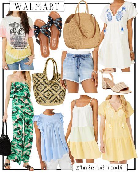 Walmart new arrivals.😍 Vacation dresses. White dresses.   Jumpsuit  Sandals.     http://liketk.it/3feHy @liketoknow.it #liketkit #LTKstyletip #LTKtravel #LTKunder50