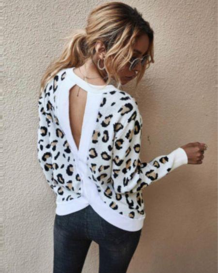 Leopard print cut out sweater $25 http://liketk.it/2W4hz #liketkit @liketoknow.it #LTKstyletip #LTKunder50 #LTKworkwear