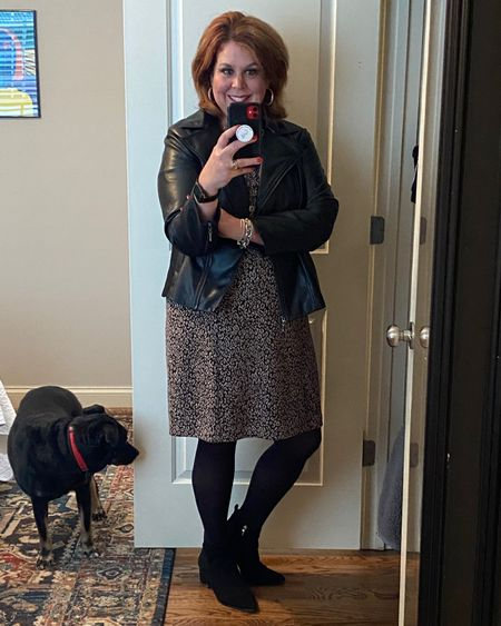 Faux leather jacket. Perfect for work into evening. Would go with any dress. Sever options pictured.  http://liketk.it/33iFm #liketkit @liketoknow.it Shop my daily looks by following me on the LIKEtoKNOW.it shopping app